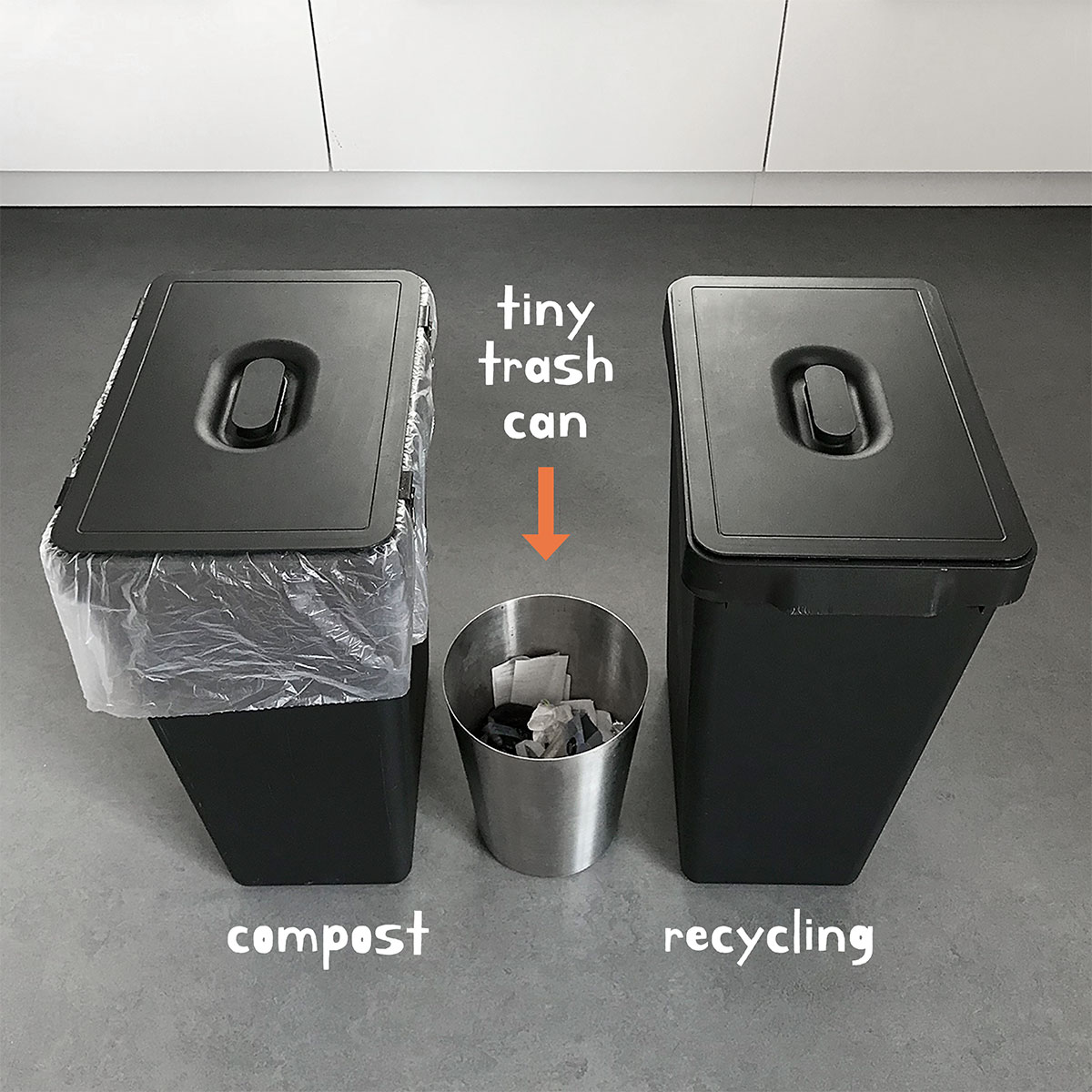 try a tiny trash can