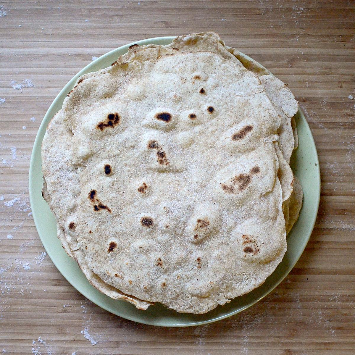 tiny trash can homemade flour tortillas recipe