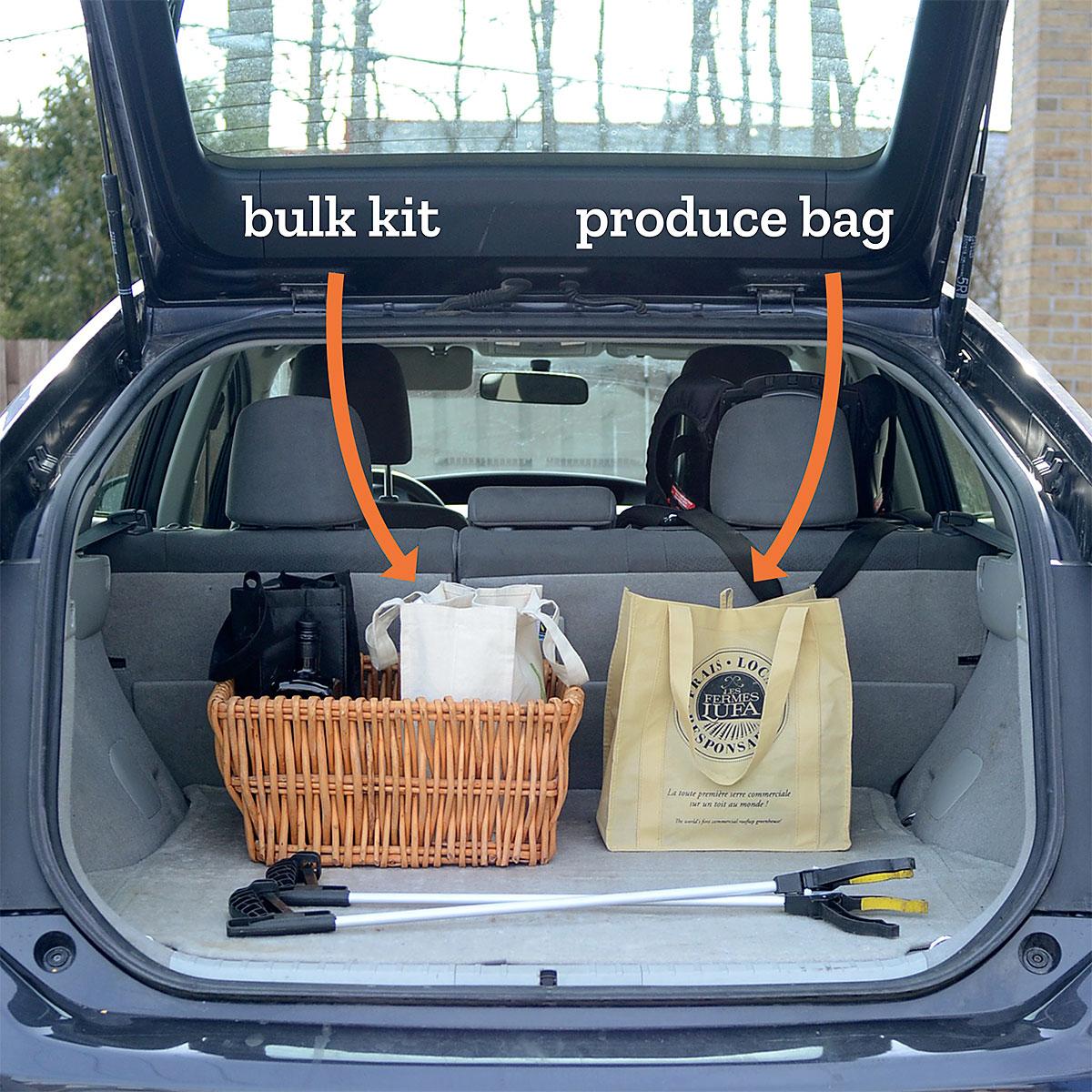 Tiny Trash Can zero waste grocery shopping kit bulk
