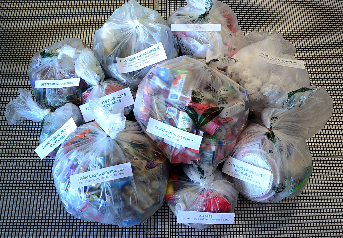 tiny trash can zero waste school trash