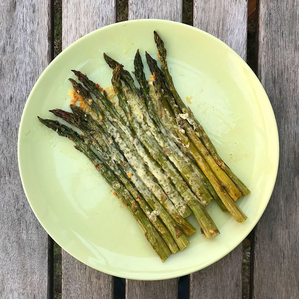 tiny trash can roasted asparagus recipe