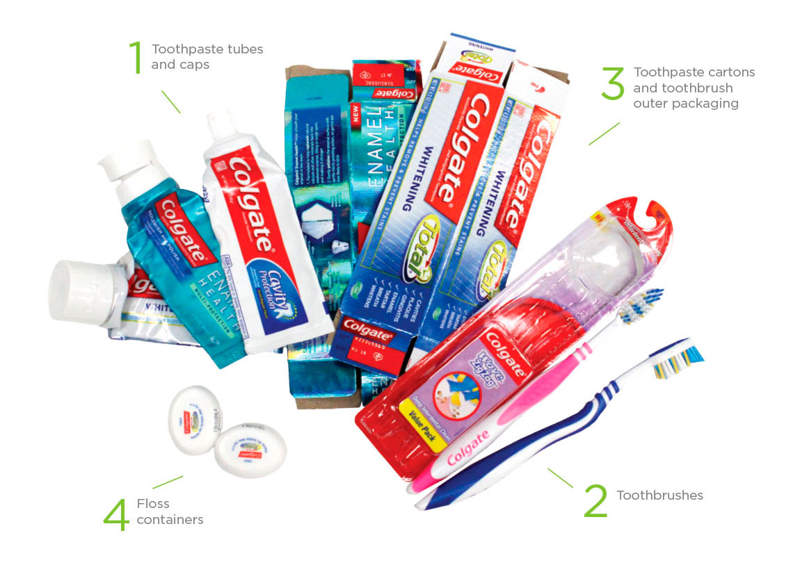 TerraCycle and Colgate oral care recycling program accepted waste