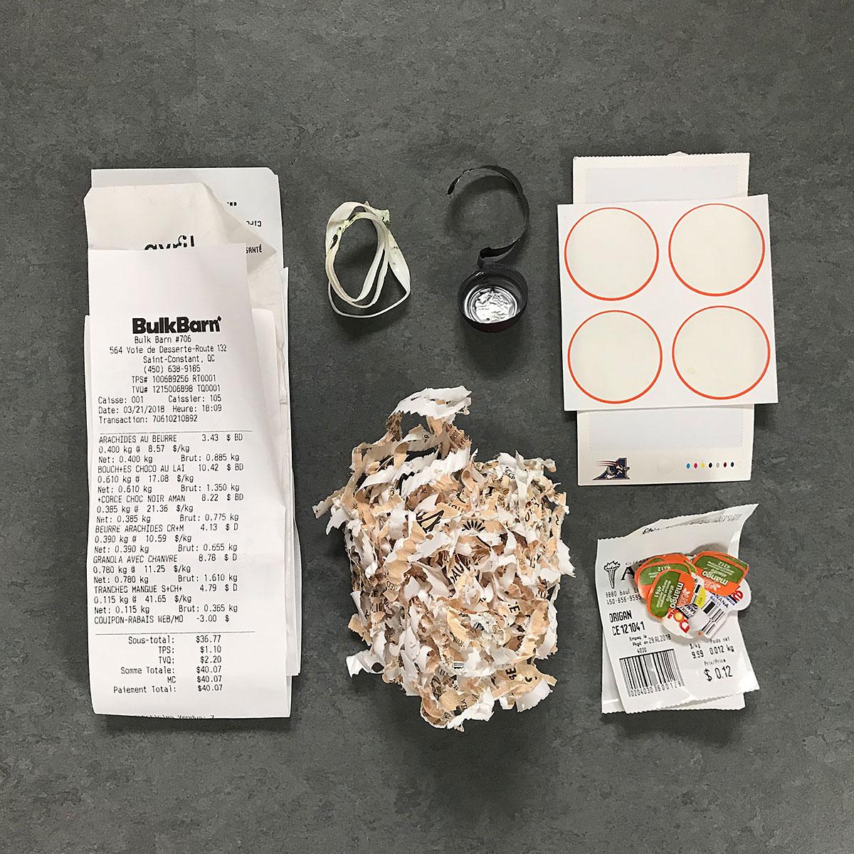 tiny trash can week 17 trash contents