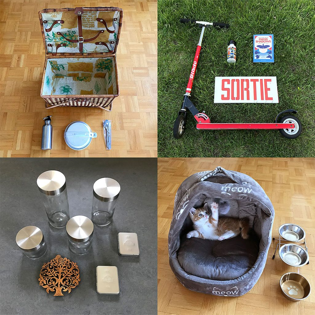 tiny trash can garage sale fun