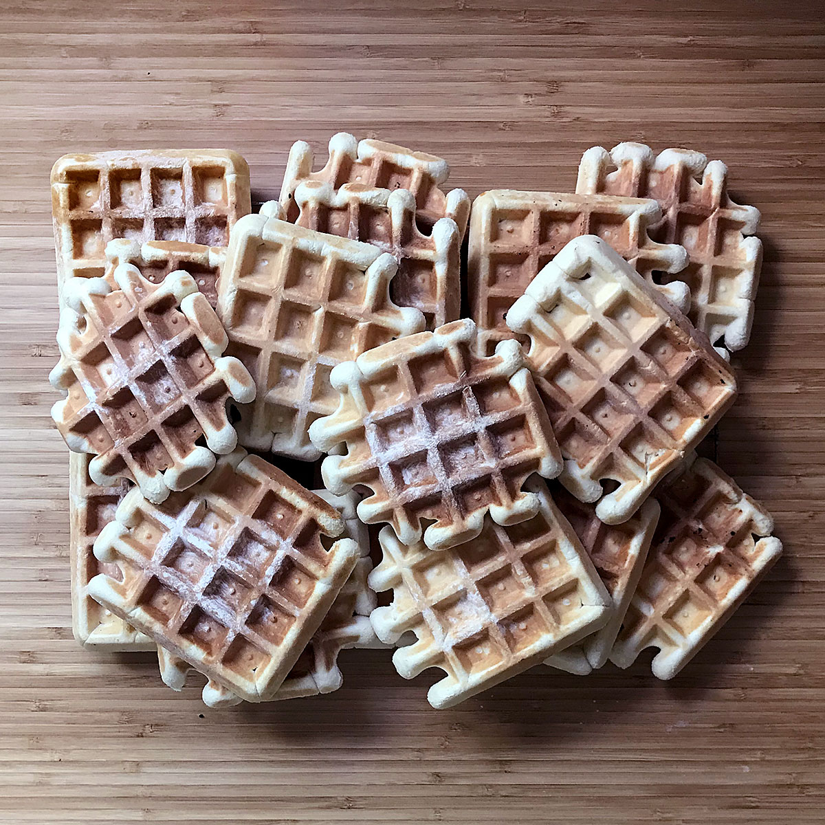 Tiny Trash Can belgian waffle recipe
