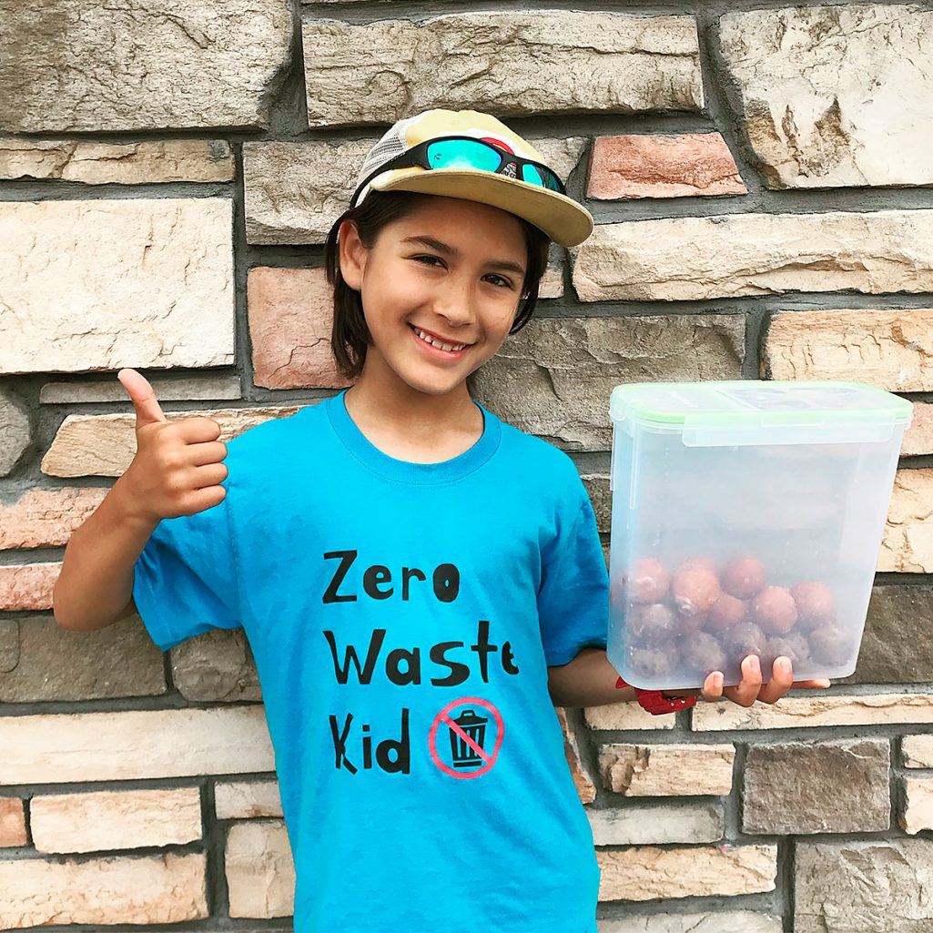 Tiny Trash Can road trip Zero Waste Kid