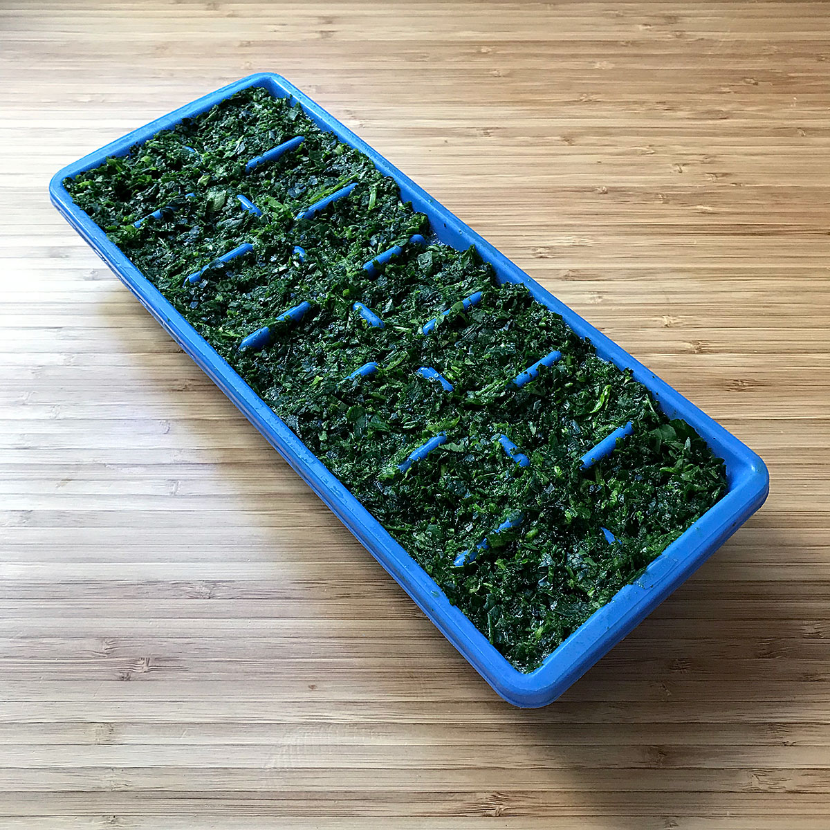 Tiny Trash Can how to freeze spinach