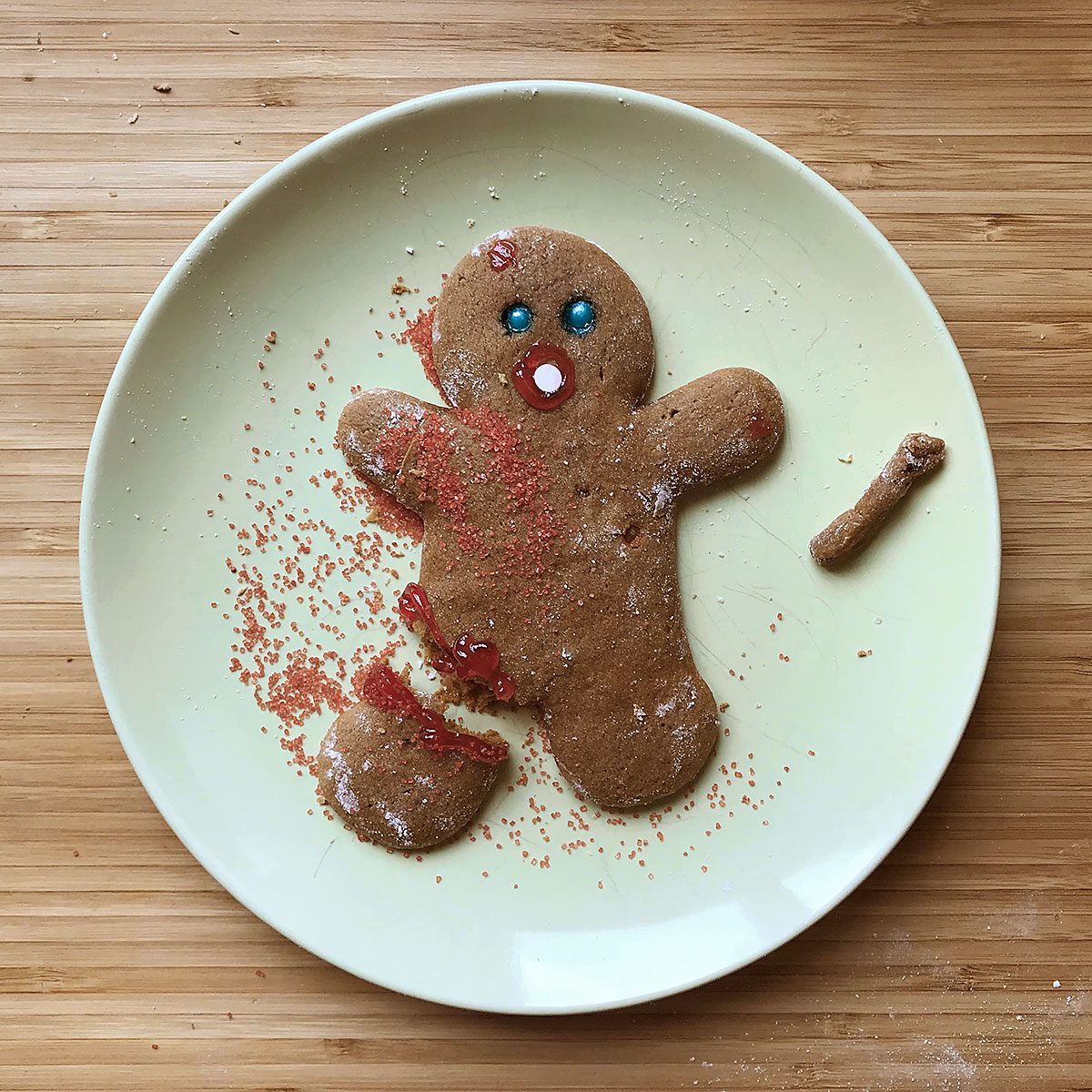 Tiny Trash Can zero waste gingerbread cookies