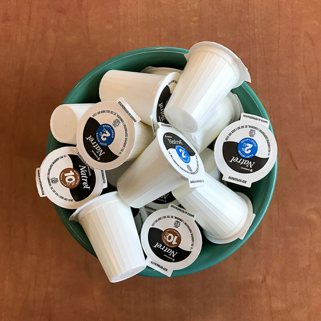 Tiny Trash Can coffee creamer