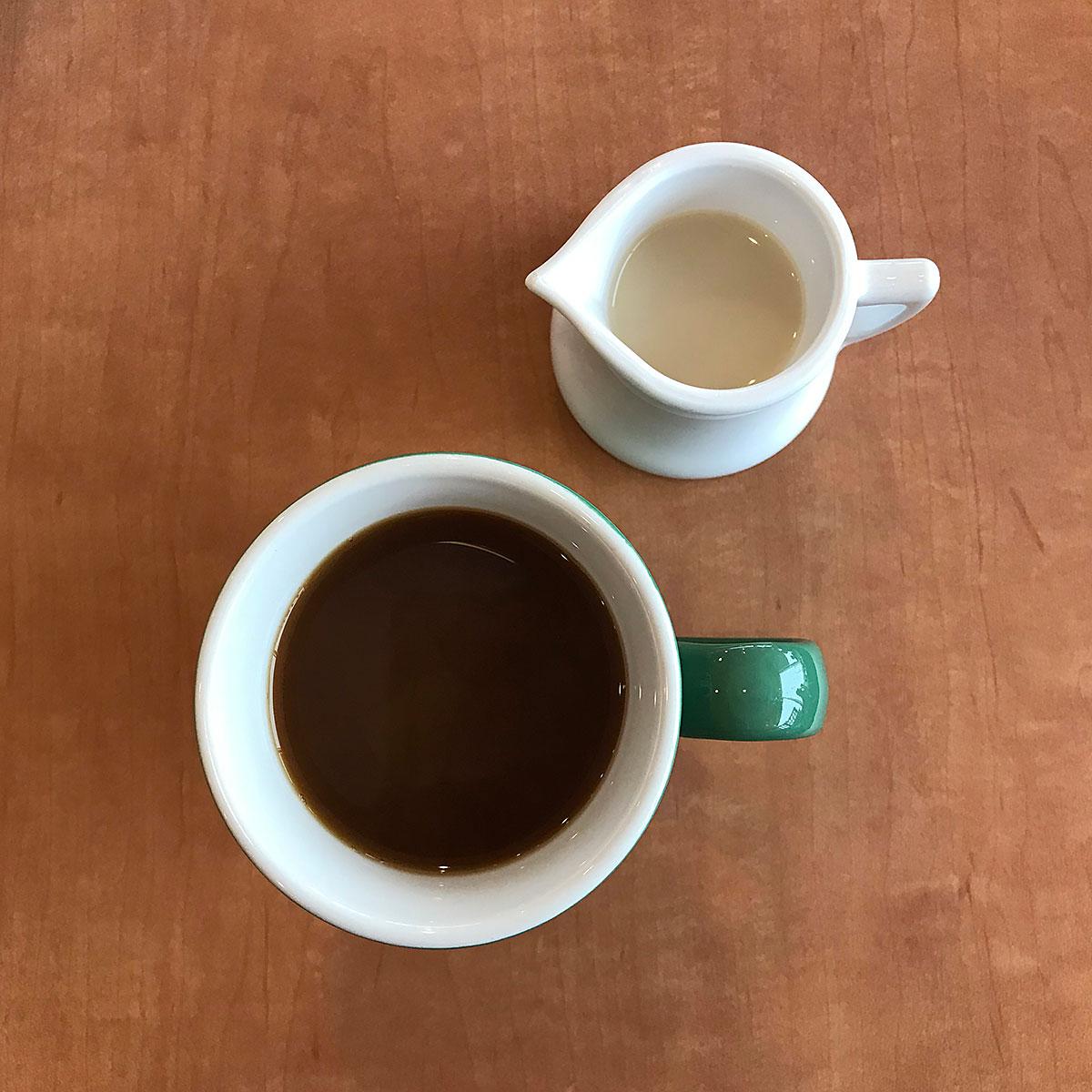 Tiny Trash Can soy milk coffee creamer