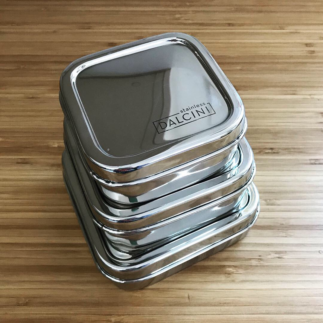 Tiny Trash Can Dalcini stainless steel food storage containers
