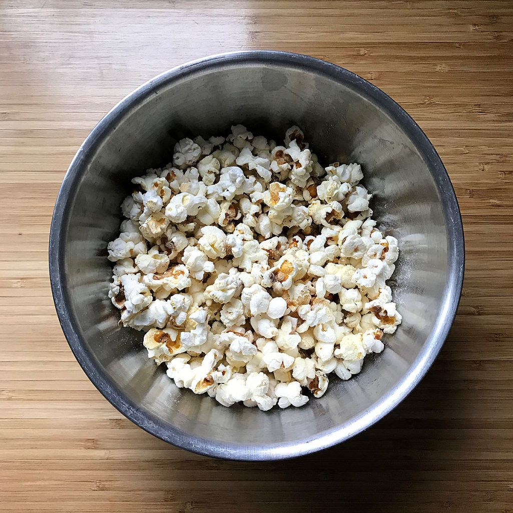 Tiny Trash Can homemade popcorn recipe