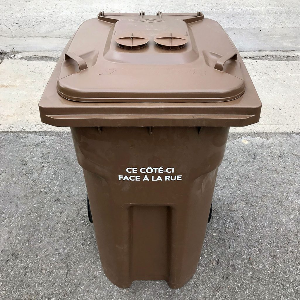 Tiny Trash Can municipal composting organic material collection