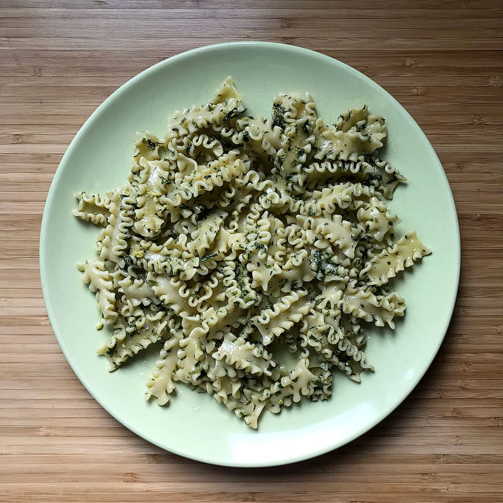 Tiny Trash Can spinach pesto recipe