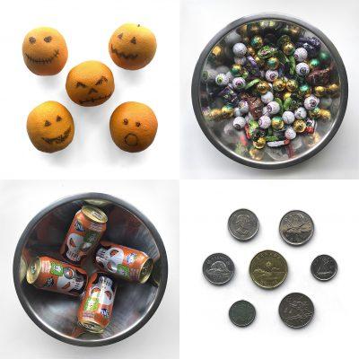 Tiny Trash Can zero waste Halloween candy alternatives