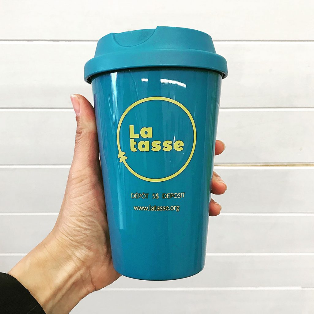 Tiny Trash Can La Tasse reusable mug