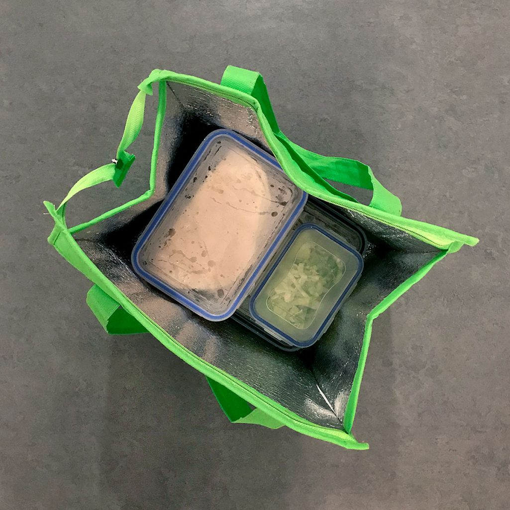 Tiny Trash Can zero waste takeout
