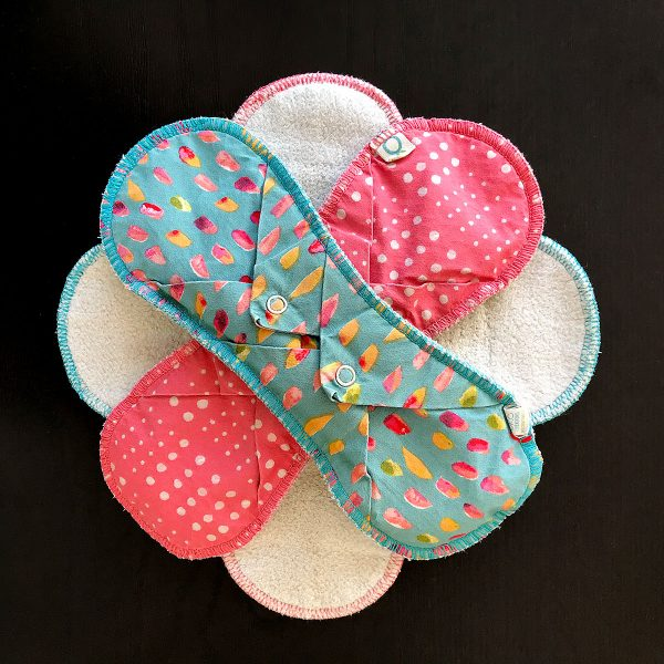 Tiny Trash Can zero waste period cloth pads