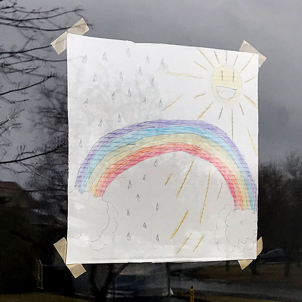Tiny Trash Can zero waste rainbow window
