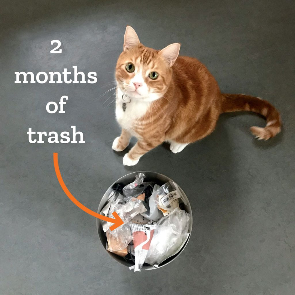 Tiny Trash Can trash diary 2020 third quarter