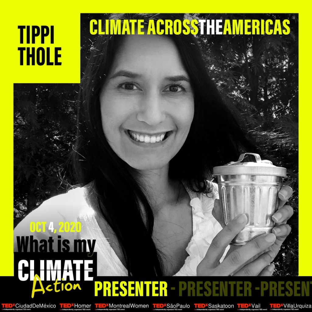 Tiny Trash Can Tippi Thole TEDx Climate Across the Americas