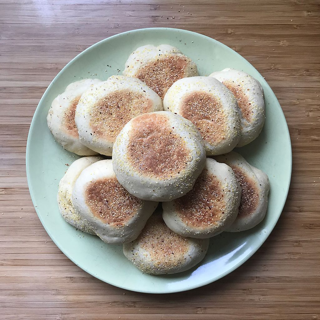 Tiny Trash Can English muffins recipe