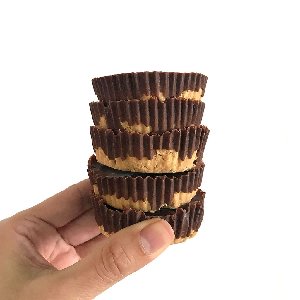 Tiny Trash Can homemade peanut butter cups