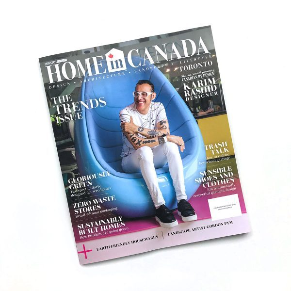 Tiny Trash Can press At Home in Canada July 2019 Trends issue