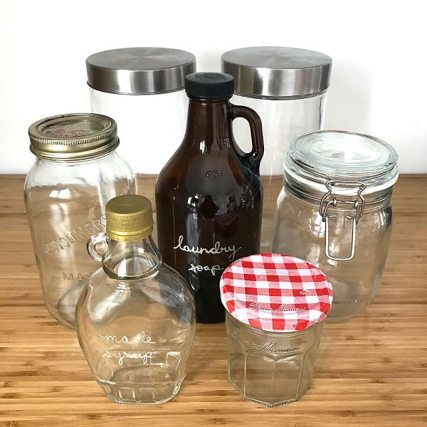 Tiny Trash Can zero waste bulk shopping jars