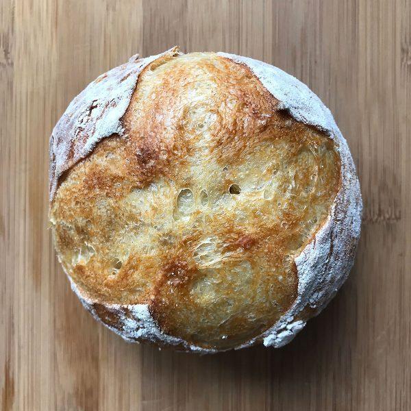 Tiny Trash Can no-knead bread recipe