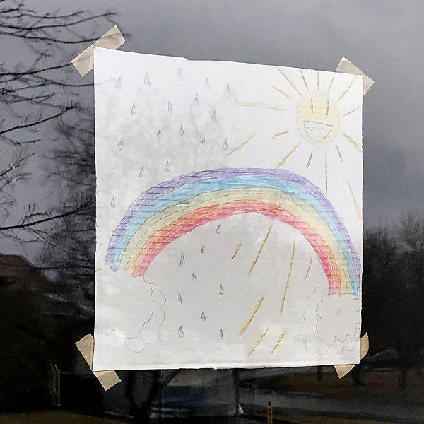 Tiny Trash Can zero waste rainbow window